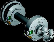 Axe et paliers magnétiques turbocore