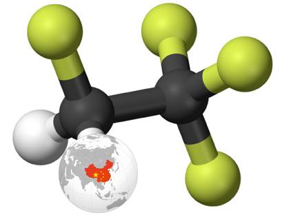 Molécule HFO 1234 Ze